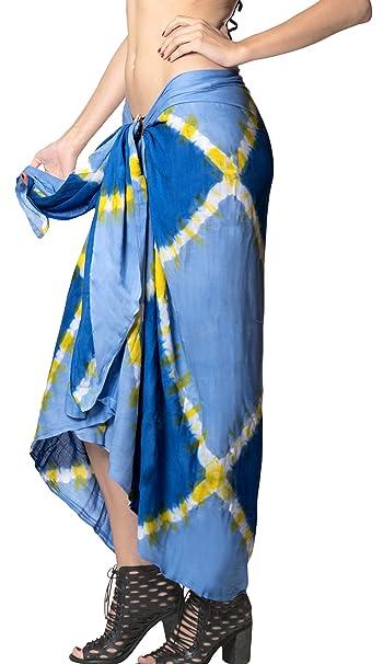 61040f5b98 LA LEELA Rayon Bathing Suit Wrap Women Sarong Tie Dye 78 quot X43 quot  ...