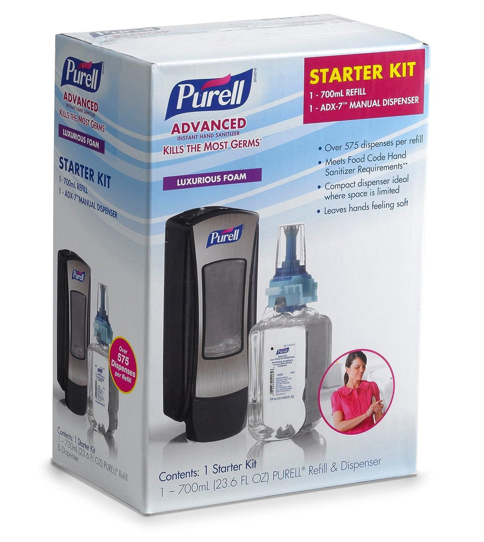 8705-D1 Kit de dispensador de relleno de espuma para manos, ADX Advanced, de 2 piezas - - Amazon.com