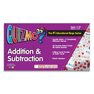 Learning Advantage QUIZMO Addition & Subtraction - Bingo-Style Math Game for Kids - Help Your Child Learn Essential Elementary Skills: Industrial & Scientific