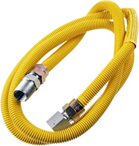 """Supplying Demand 203-3132 Dryer Gas Hose With Fittings Compatible With 1/2"""" MIP x 1/2"""" FIP Hose Connections (5 Feet)"""