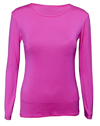 4608119a Panzys Girls Long Sleeve Plain Basic TOP Kids T-Shirt Tops Crew Uniform TEE  2-13Y: Amazon.co.uk: Clothing