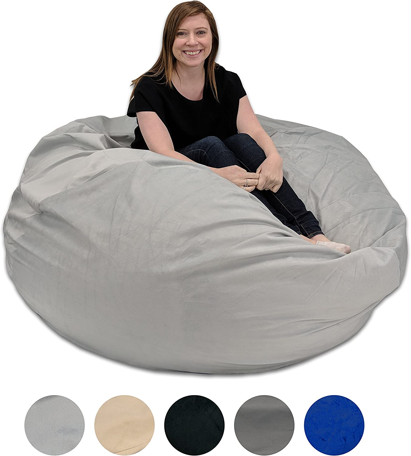 Pillowtex Quality Kids Memory Foam Bean Bag Chair 3ft Bags with Removable Washable Cover