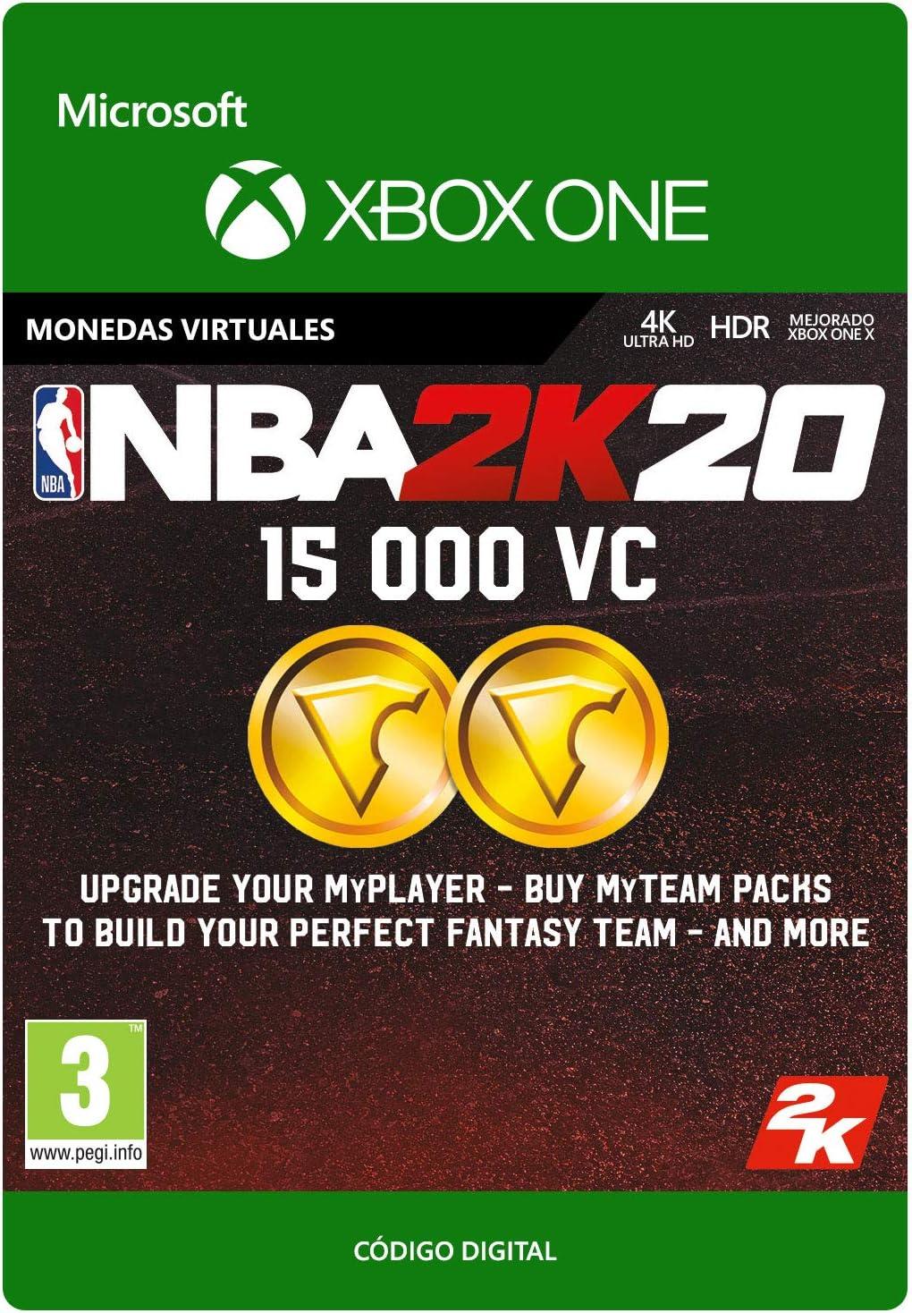 NBA 2K20: 15,000 VC   Xbox One - Código de descarga: Amazon.es ...