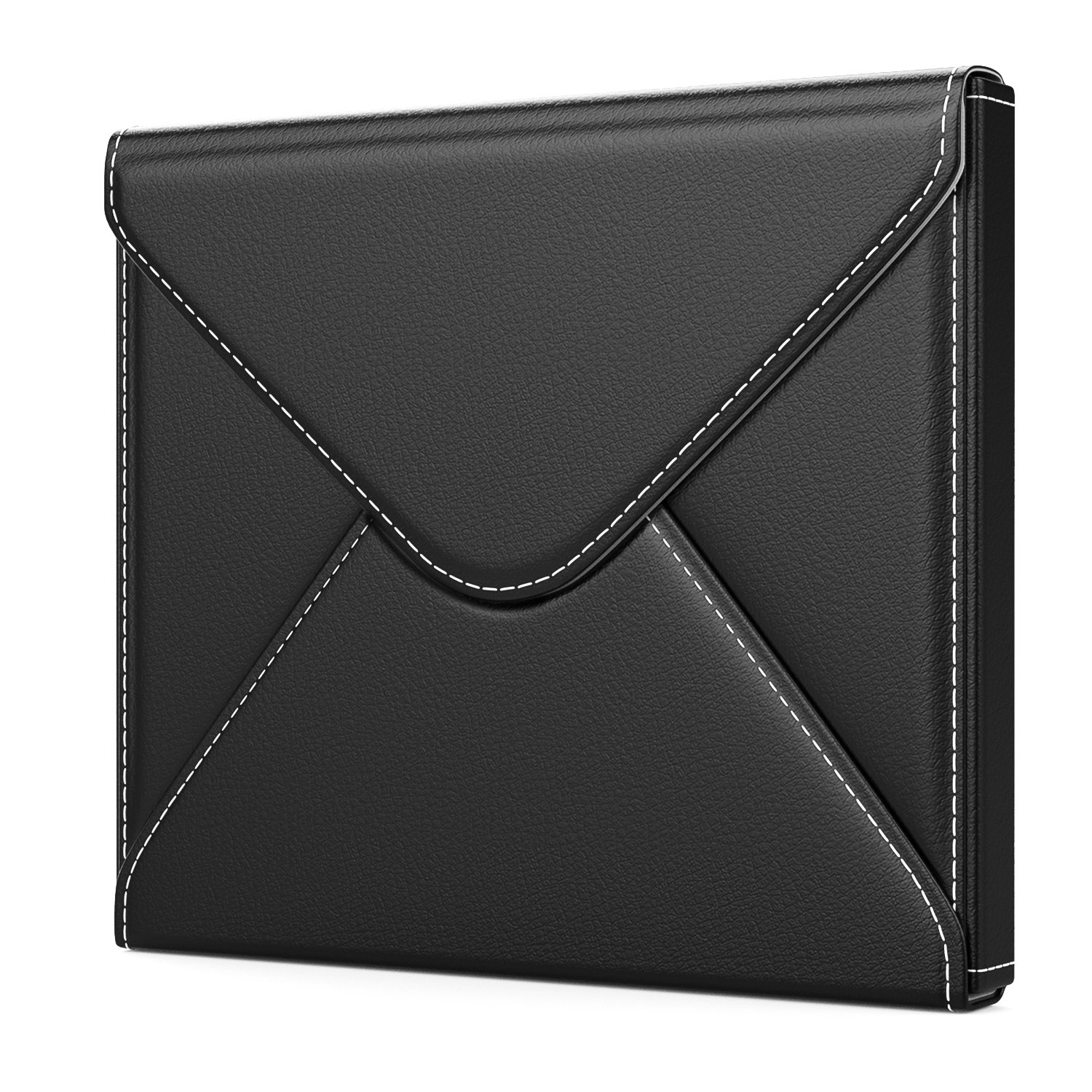 MoKo Kindle Oasis 7 inch Sleeve Case, Premium PU Leather Protective Envelope Cover Bag Pouch for Amazon 7'' Kindle Oasis E-Reader (9th Generation, 2017 Release) - Black