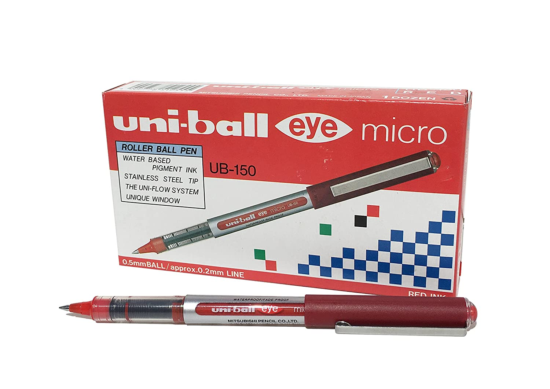 pennino da 0,7 mm Penna rollerball UB-157 Eye Fine confezione da 3 pezzi inchiostro blu Uni-ball Super Ink