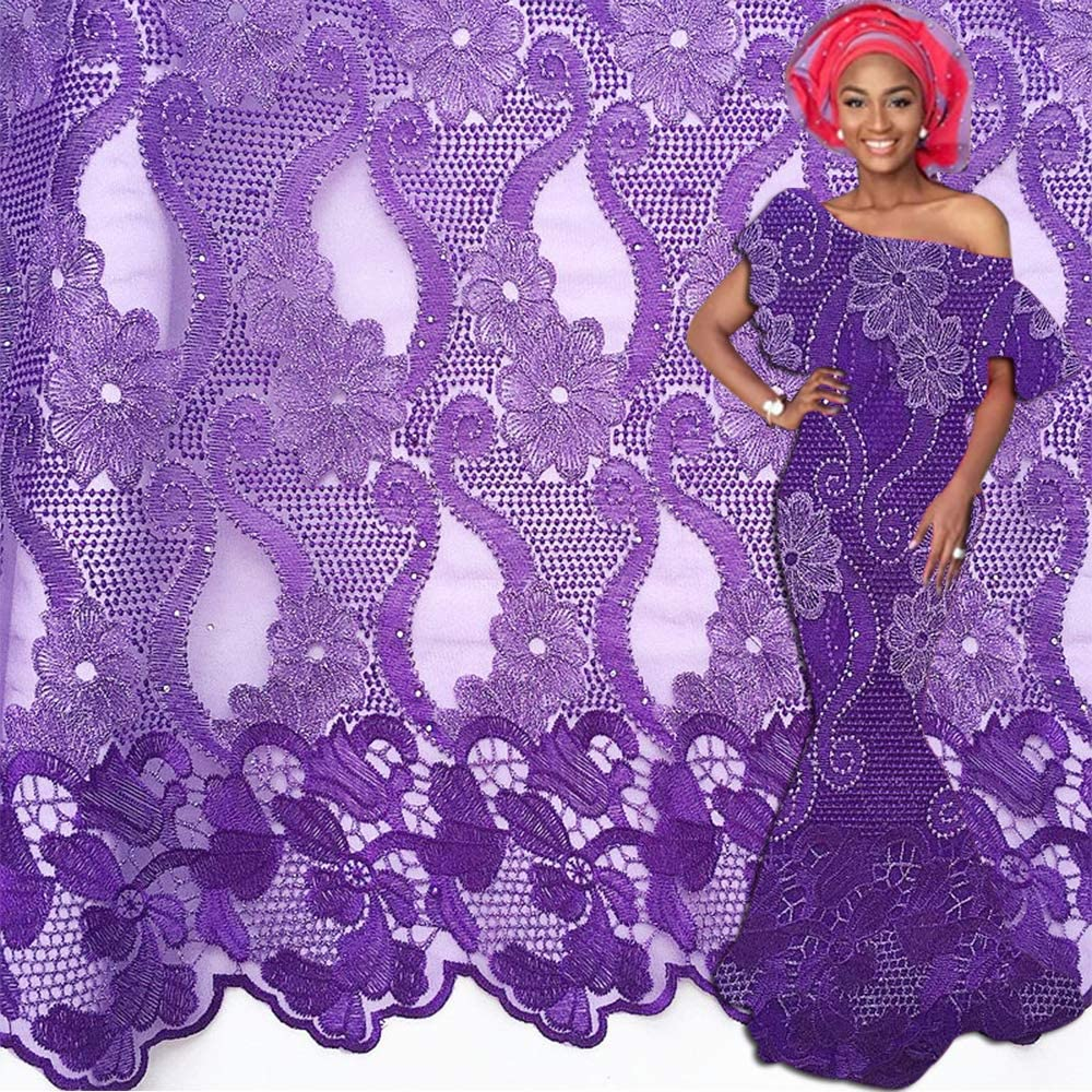 Pink Best Selling Swiss laces African Lace Fabric Nigerian French Fabric High Quality Tulle Cord Lace Fabric 5 Yards