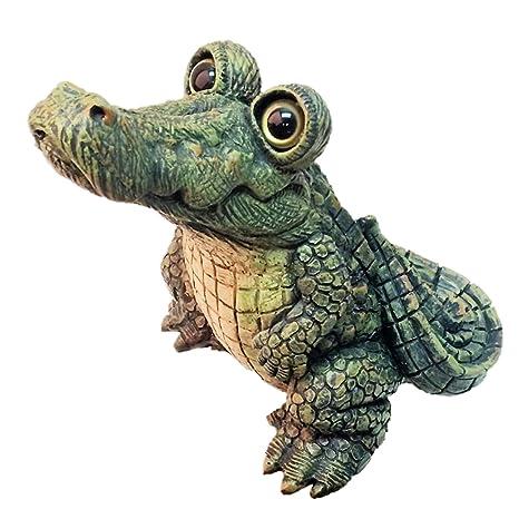 Toad Hollow Large Standing Gator Home U0026 Garden Alligator Statue 11u0026quot; ...