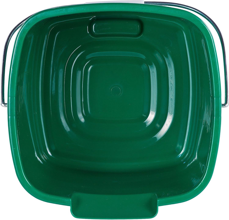 9.5 Length 8 Quart 7.5 Height 10 Width 9.5 Length Polyethylene Pack of 12 Green 10 Width HDPE Carlisle 1183309 Square Steri Pail 7.5 Height