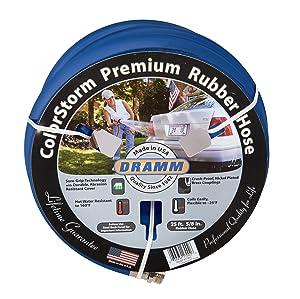 """Dramm 17105 ColorStorm Premium Rubber Hose 5/8"""" x 25' x25', Blue"""