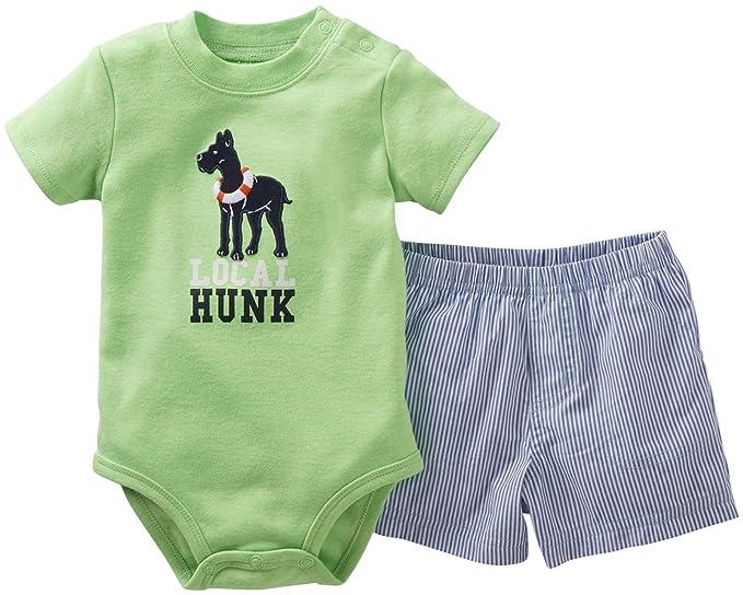 Amazon.com: Del Carter bebé Boys 2 piezas Body y Shorts Set ...