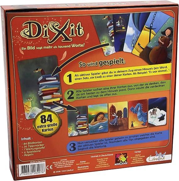 Dixit (versión en alemán): aa.vv.: Amazon.es: Juguetes y juegos