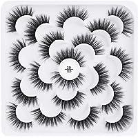 RIPPLE False Eyelashes 16mm,Fake Eye Lashes 3D Fluffy Nature Eyelashes Handmade Thick Reusable Wispies Natural Strip…