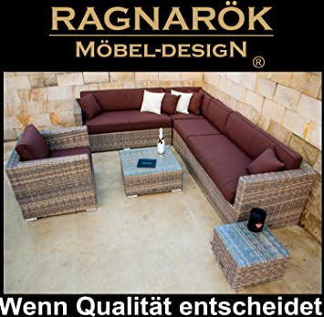 Ragnarök-Möbeldesign Salon de jardin en résine tressée de ...