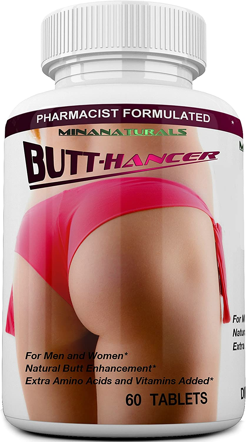 BUTTHANCER Natural Butt Enlargement & Butt Enhancement Pills. Glutes Growth and Bigger Booty Enhancer Pills. 60 Tablets