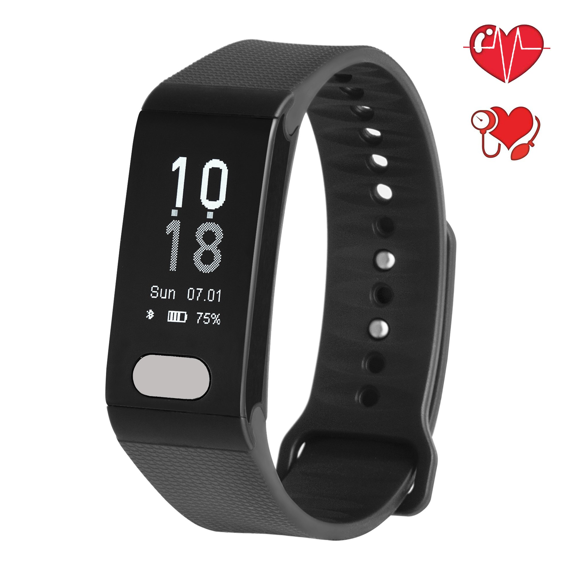 Fitplus Fitness Tracker,Fitness Watch with Heart Rate Monitor,Blood Pressure Monitor,Sleep Monitor,Waterproof Smart Band,Pedometer Activity Tracker,Smart Bracelet with Step Calorie Distance Counter