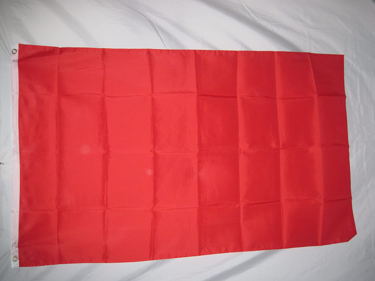 Solid Red Color Flag Plain Red Flags with Brass Grommets /& More colors