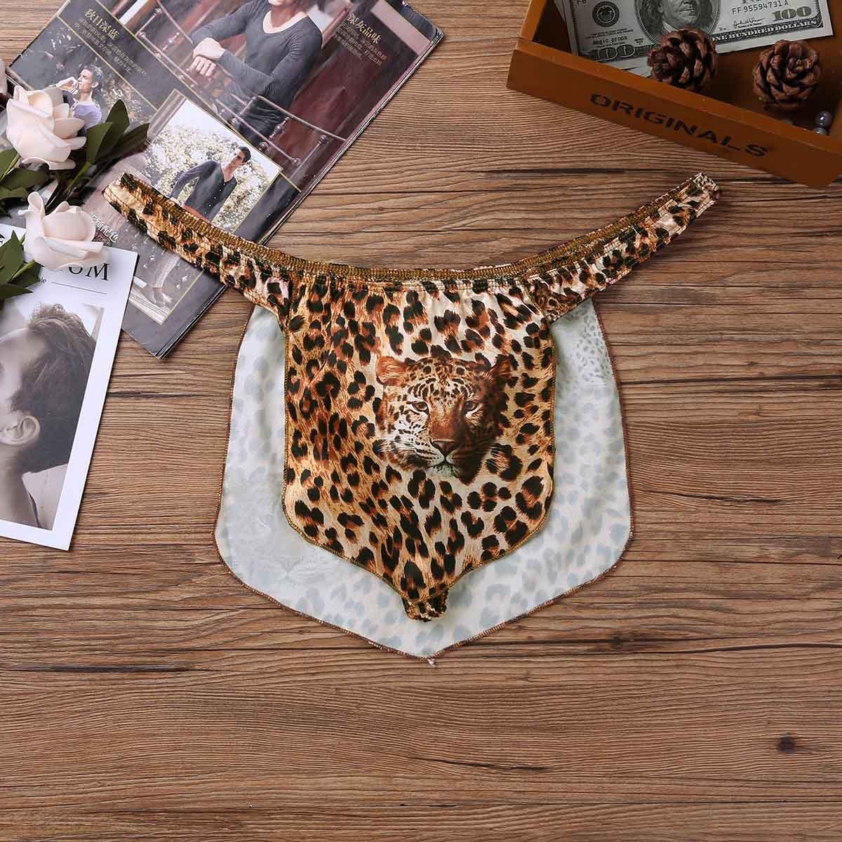 afc13cc79cac Amazon.com: YOOJIA Men's Leopard Print High Cut G-String Thong Underwear Jungle  Tarzan Cosplay Fancy Dress: Clothing