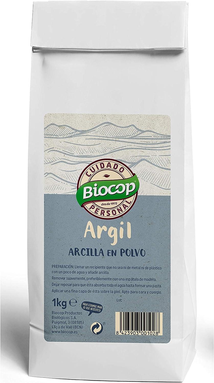 BIOCOP Arcilla Blanca Argil 1 KG, Negro