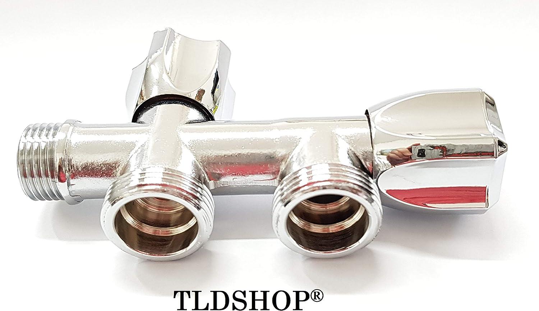 TLDSHOP® Grifo doble para lavadora/lavavajillas – Carga agua ...