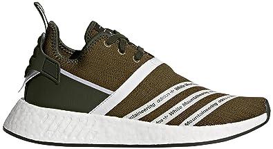 reputable site 9dd86 254e3 adidas Originals Men's WM NMD R2 PK Sneaker, Trace Olive FTWR White, ...