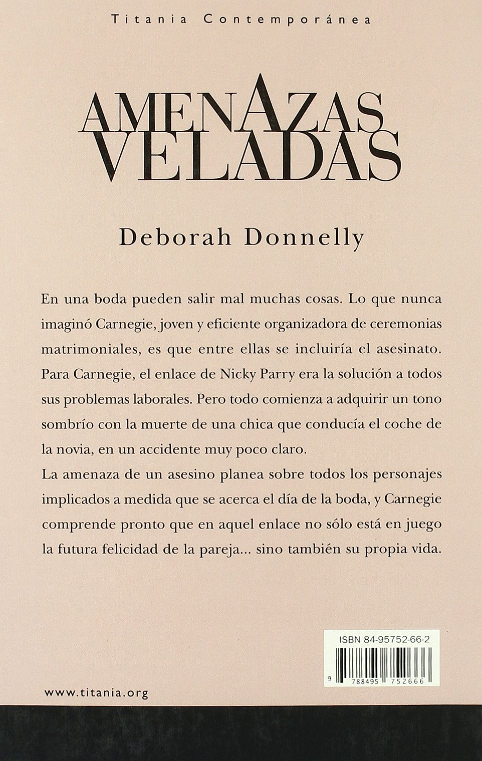 Amazon.com: Amenazas Veladas (English and Spanish Edition) (9788495752666): Deborah Donnelly, Cristina Pages: Books