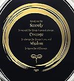14k White Gold Serenity Prayer Zen Necklace