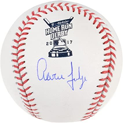 60fbf69ae8b Aaron Judge New York Yankees Autographed 2017 Home Run Derby Logo Baseball  - Fanatics Authentic Certified