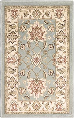 Diva At Home 2' x 3' Brown and Gray Contemporary Designed Rectangular Area Throw Rug