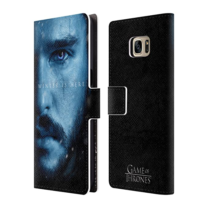huge selection of c5a2e 62868 Official HBO Game of Thrones Jon Snow Winter is Here Leather Book Wallet  Case Cover for Samsung Galaxy S7 Edge