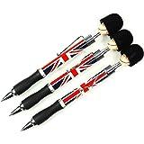 Stationeries LONPEN003 Lot de 3 stylos à bille souvenirs de Londres Design tête de garde royal et Union Jack