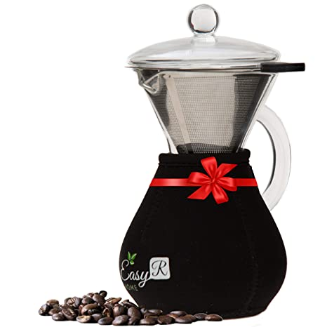Amazon.com: EasyR Home Pour Over Brewer - Cafetera de 14 oz ...