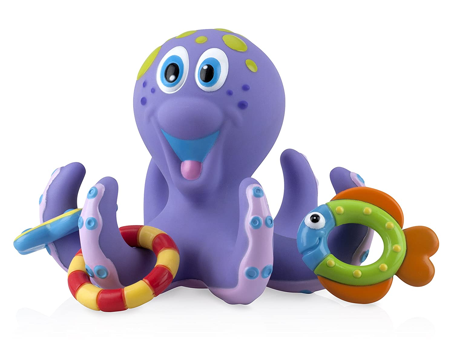 Nuby Bath Time Toss (Octopus Floating Bath Toy), Purple 531440