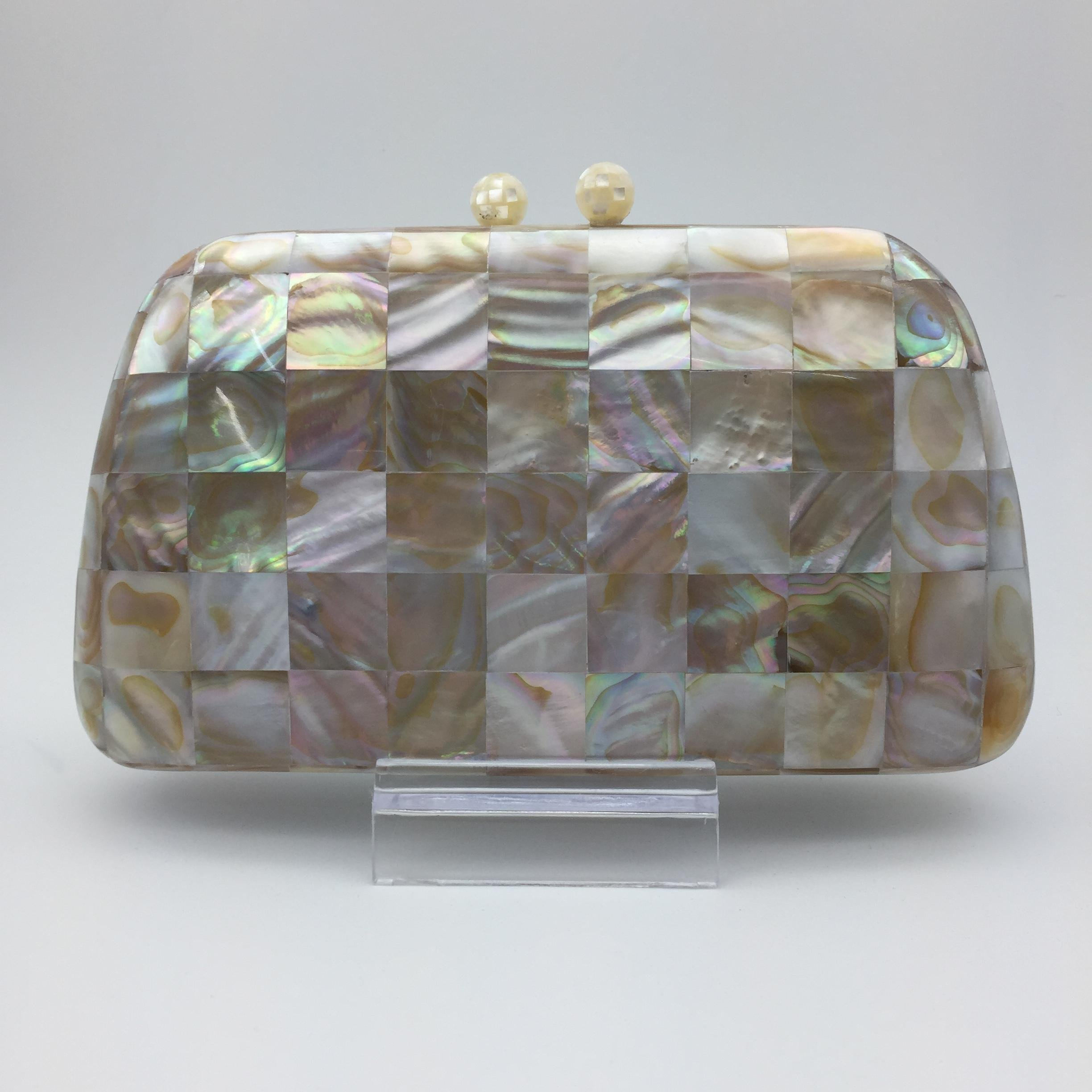 Clutch Bag with Mother of Pearl