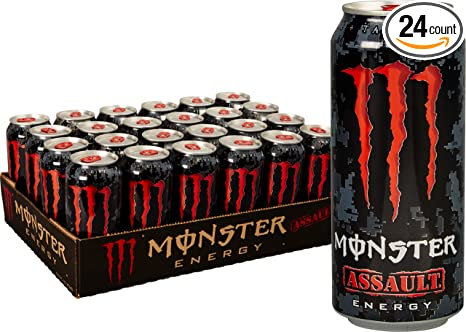 Monster Energy Assault, Energy Drink, 16 Ounce