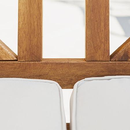 WE Furniture AZWXBLSBR Outdoor Love Seat, Brown