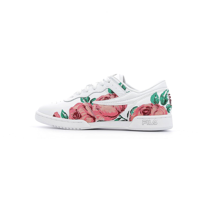 Fila Women's Original Embroidery Sneakers B07F8B6M1V 6.5 B(M) US|Wht/Dflo/Wht