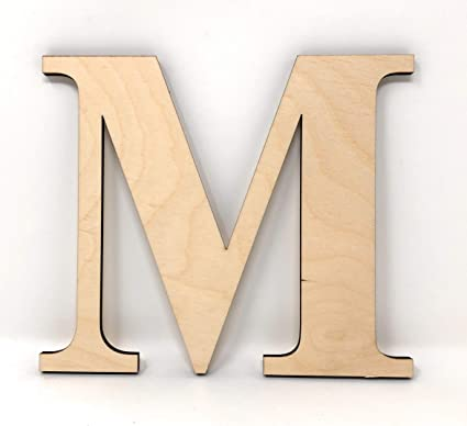 gocutouts 6 wooden letter m unfinished wooden cutout package of 2 craft letters times letter