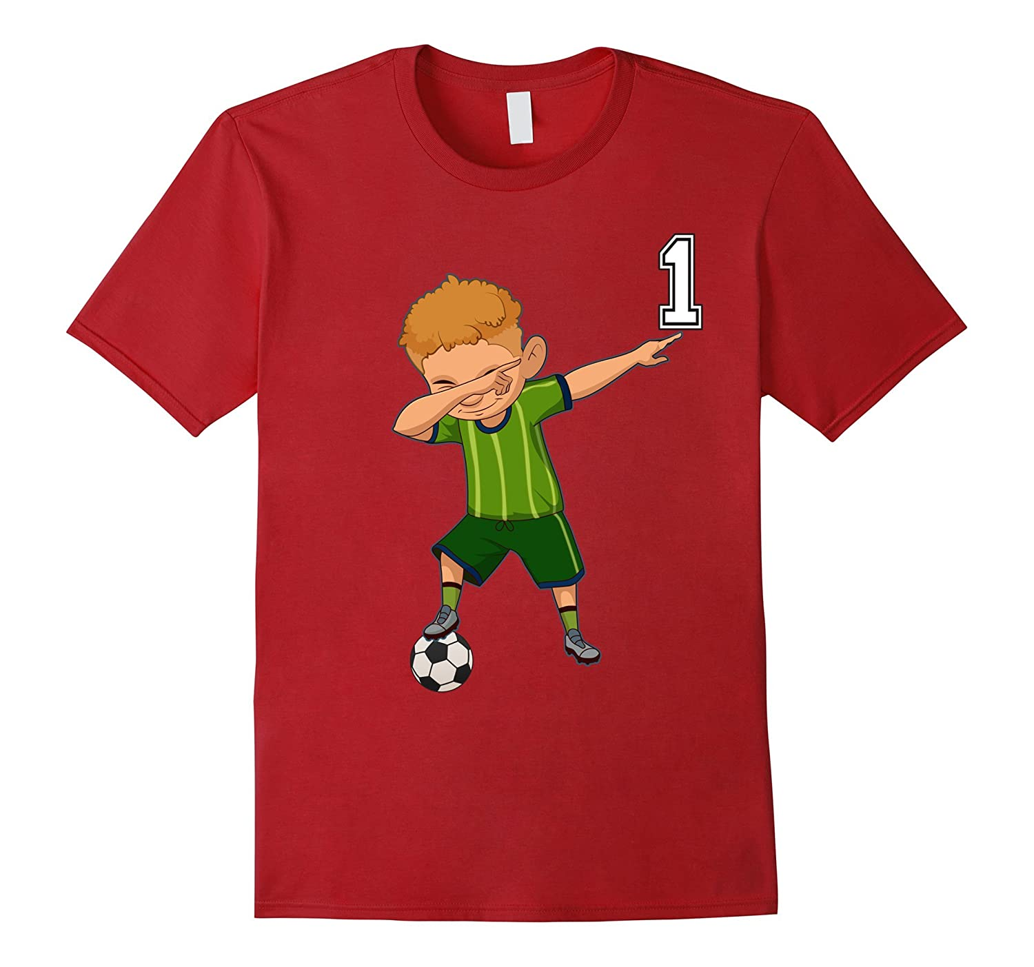 1 Soccer Shirt Boys Funny Dabbing Dab Dance Christmas Gifts-RT