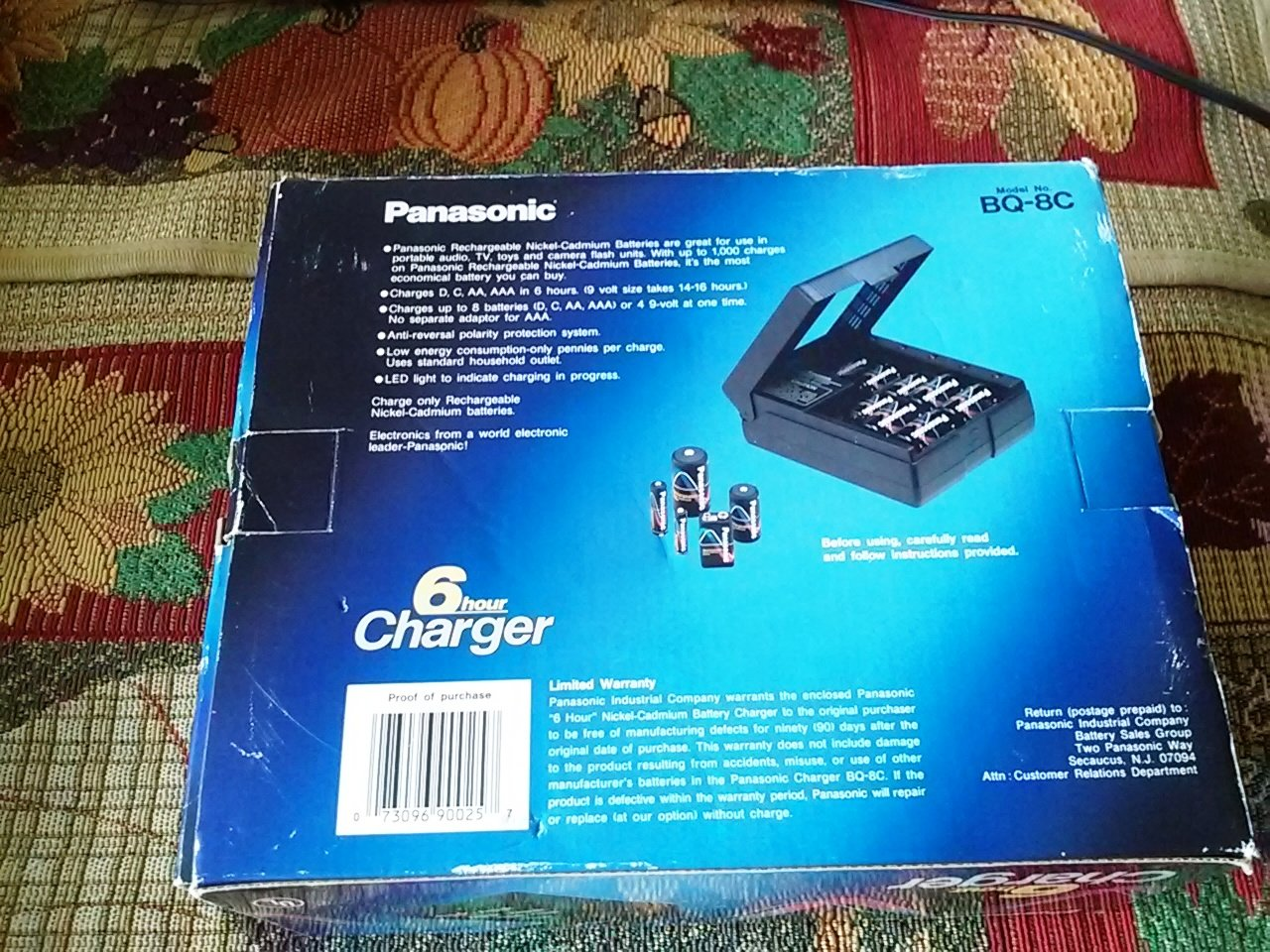 Panasonic Bq 8c Multi Battery Charger Aa Aaa D C 9v Nicad By Ic Ca3140e Batteries Home Audio Theater