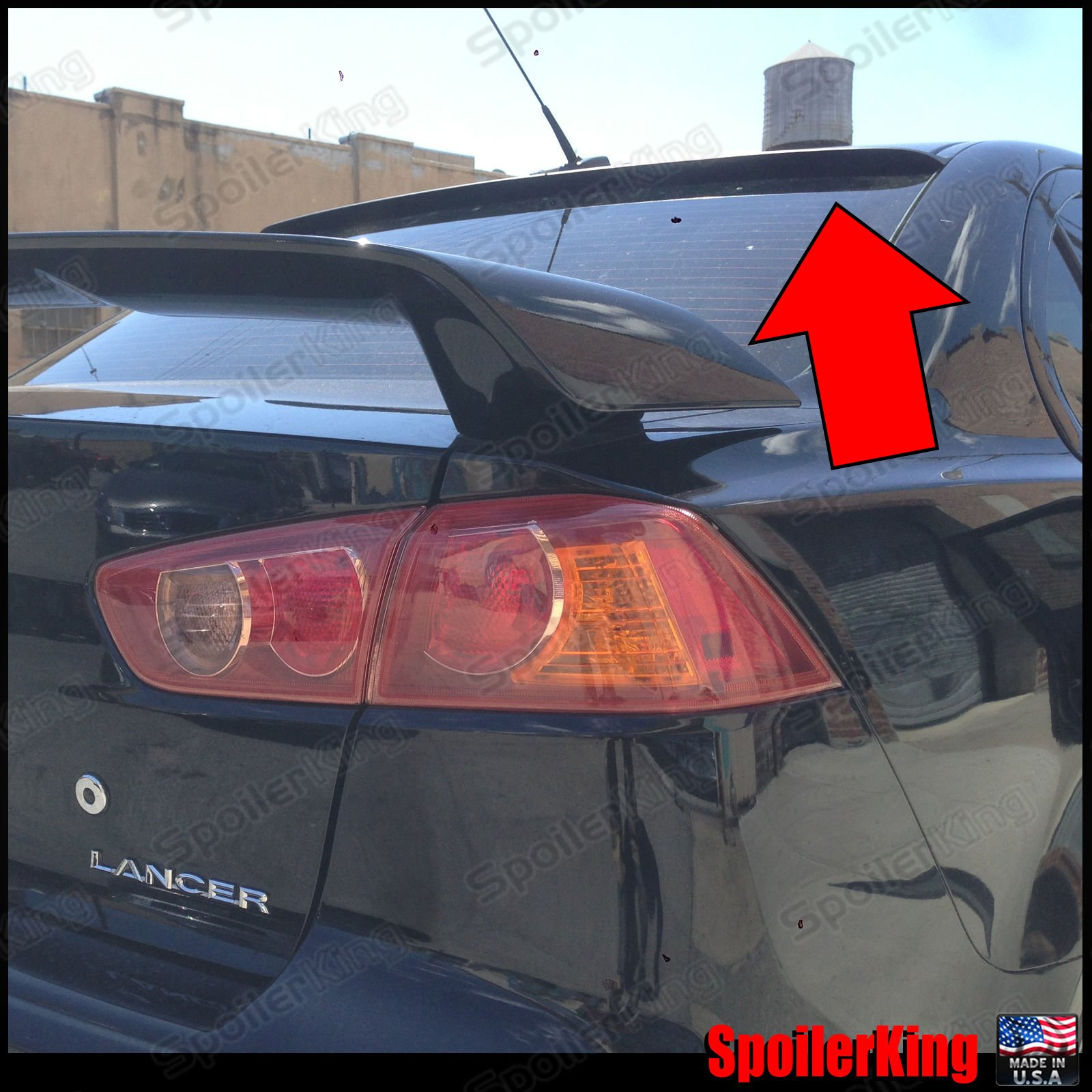 SCITOO Replacement fit for Black ABS Rear Trunk Spoiler Wing 2008-2017 Mitsubishi Lancer 56 Inch x 7.87 Inch