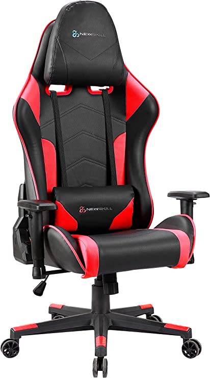 Newskill Kitsune - Silla gaming profesional (Inclinación y altura regulable, reposabrazos 2D ajustables, base en nylon, reclinable 180º), Color Roja: Amazon.es: Informática