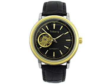 Automático mecánico till montaña Black para hombre reloj de pulsera diseño nuevo oro Pearl GYD: Amazon.es: Hogar