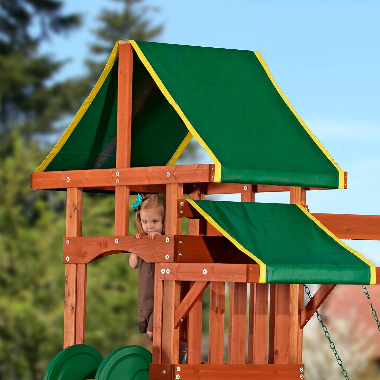 amazon com playground children play swing set backyard kids climb