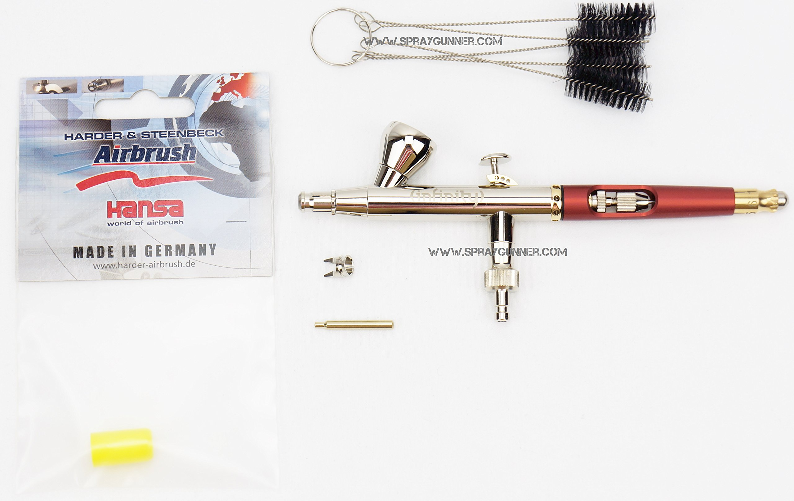 Harder and Steenbeck Infinity solo 0.15mm airbrush 126533 + BONUS by SprayGunner