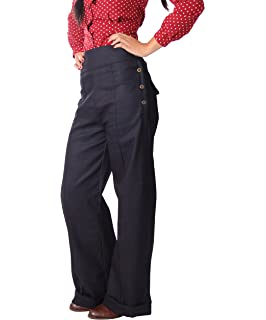 d1730d70b1e3d6 Collectif Damen Jeans Freya High Waisted Hosenträger Hose: Amazon.de ...