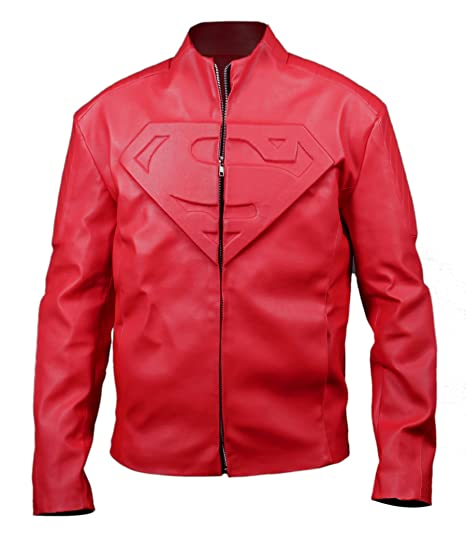 Boys Superman Leather Jacket