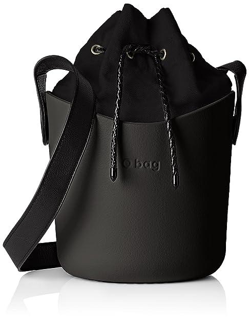 O bag - Obsk15_obscv01, Bolsos de mano Mujer, Nero, 23x22x17 cm (W