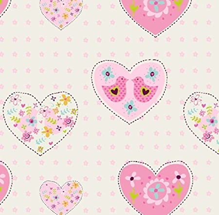 Debona Wallpaper Amour Hearts Pink 6340