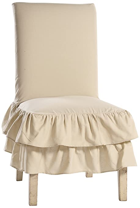 Tremendous Classic Slipcovers Cotton Duck 2 Tier Dining Chair Khaki Cjindustries Chair Design For Home Cjindustriesco