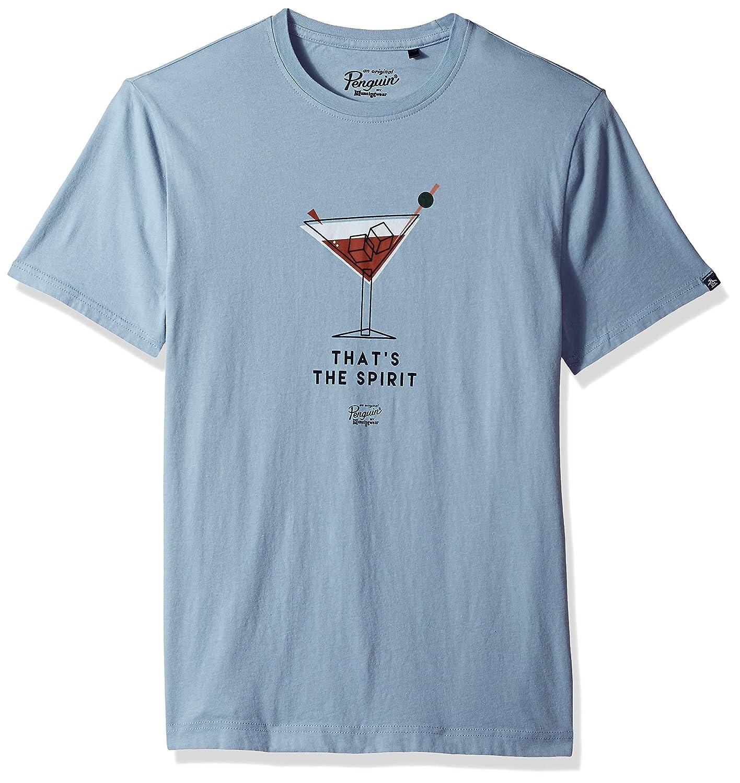 ORIGINAL PENGUIN Mens Short Sleeve Happy Hour Tee